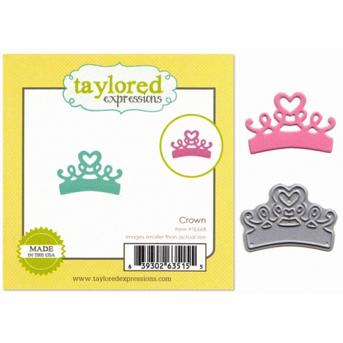 Taylored Expressions Little Bits Crown - Stanzschablone Krone