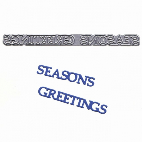 Tattered Lace Mini Dies - Stanzschablone Seasons Greetings