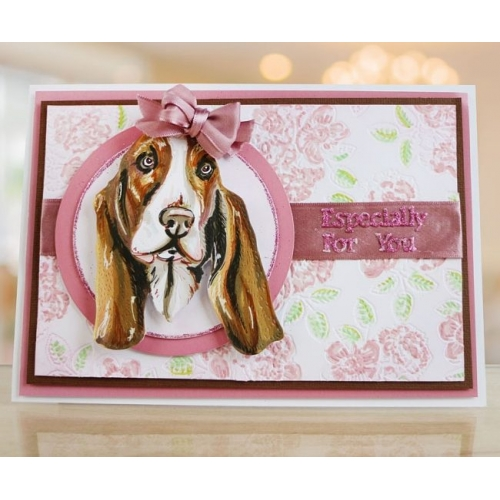 Tattered Lace Essentials - Berty Basset Stanzschablone Hund