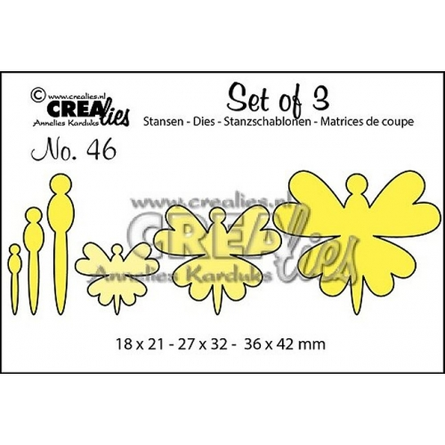 CREAlies Set of 3 Stanzschablone Schmetterling no.46