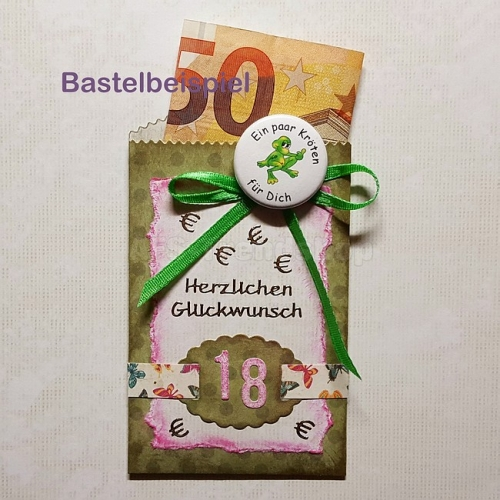 Button Geldgeschenk 6er Set