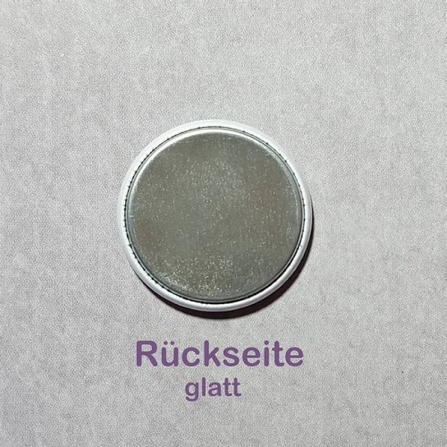 Button 25 mm - Happy Birthday lila / Rückseite glatt