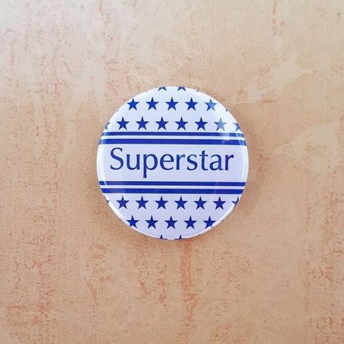 Button 25 mm - Superstar / Anstecknadel