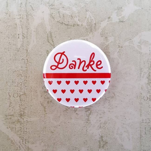 Button 25 mm - Danke / Anstecknadel